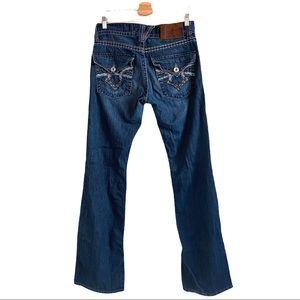 BIG STAR Men's Orion Slim Boot Cut Dark Wash Jeans